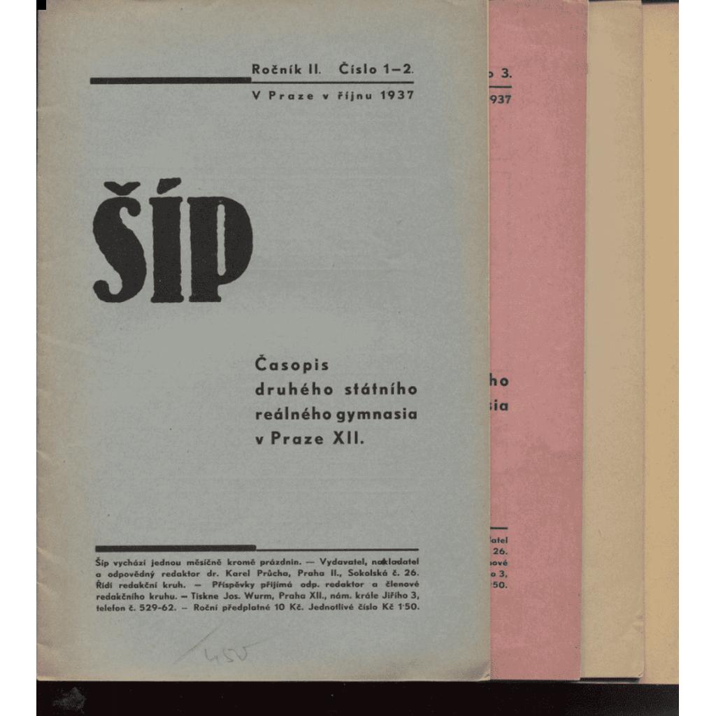 Šíp, roč. II, čísla 1-10/1937-38 (časopis)