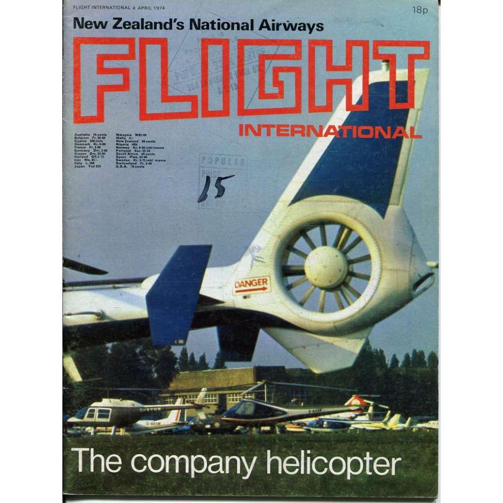 Flight International 4/4/1974, No. 3395, Vol. 105 (letadla, letectví)