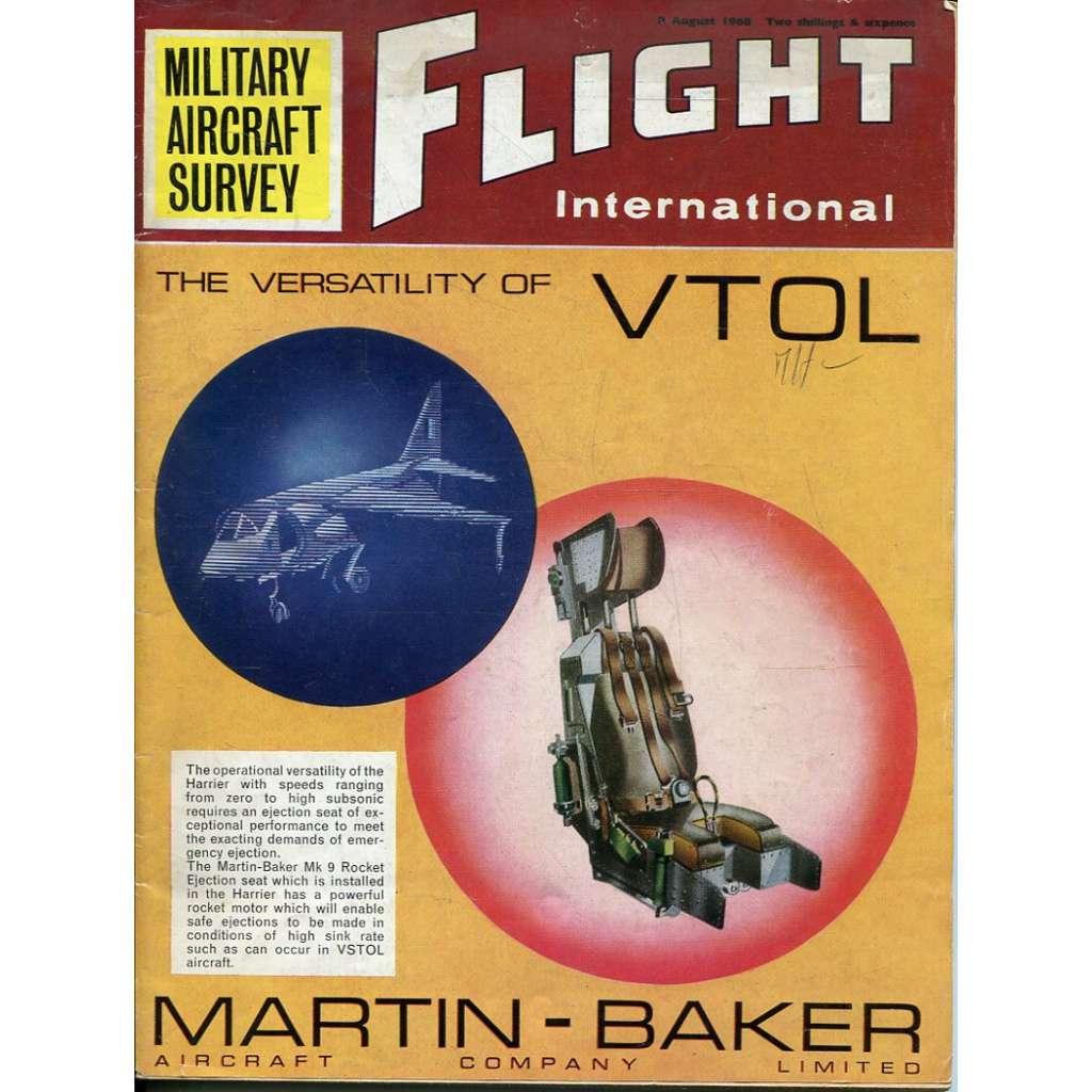 Flight International 8/8/1968, No. 3100, Vol. 94 (letadla, letectví)
