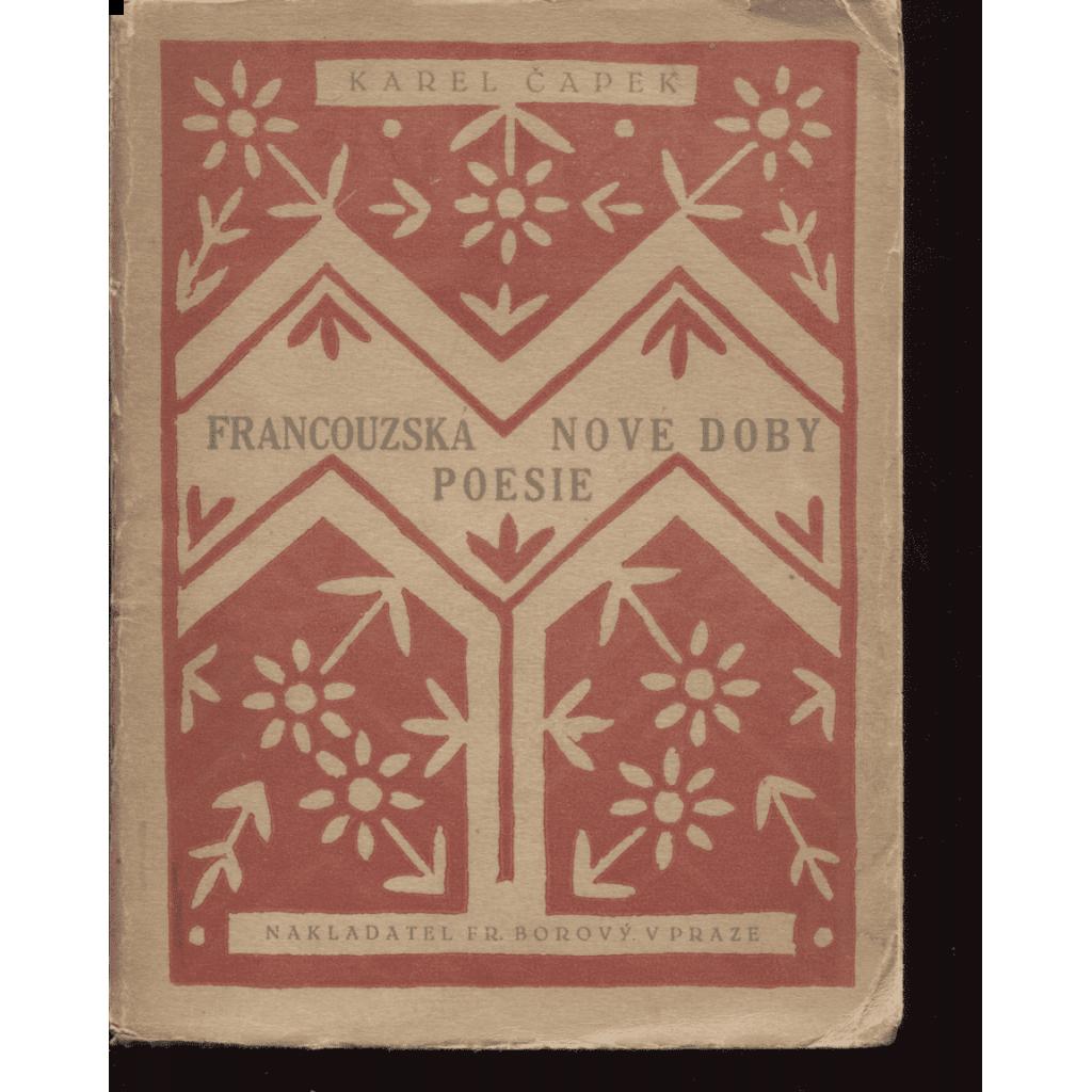 Francouzská poesie nové doby v překladech Karla Čapka (obálka Josef Čapek)