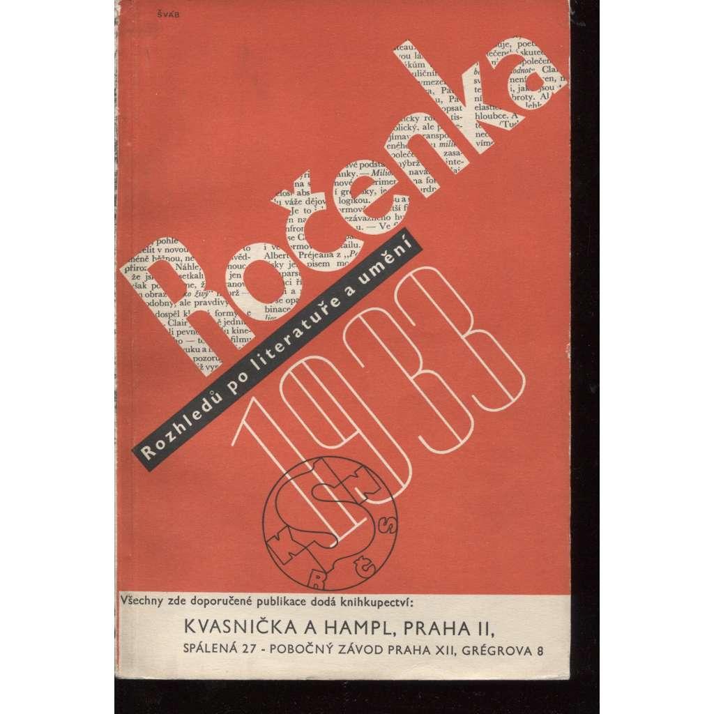 Ročenka Rozhledů po literatuře a umění 1933