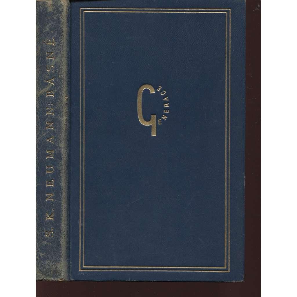 Básně (celokožená vazba, podpis S. K. Neumann)