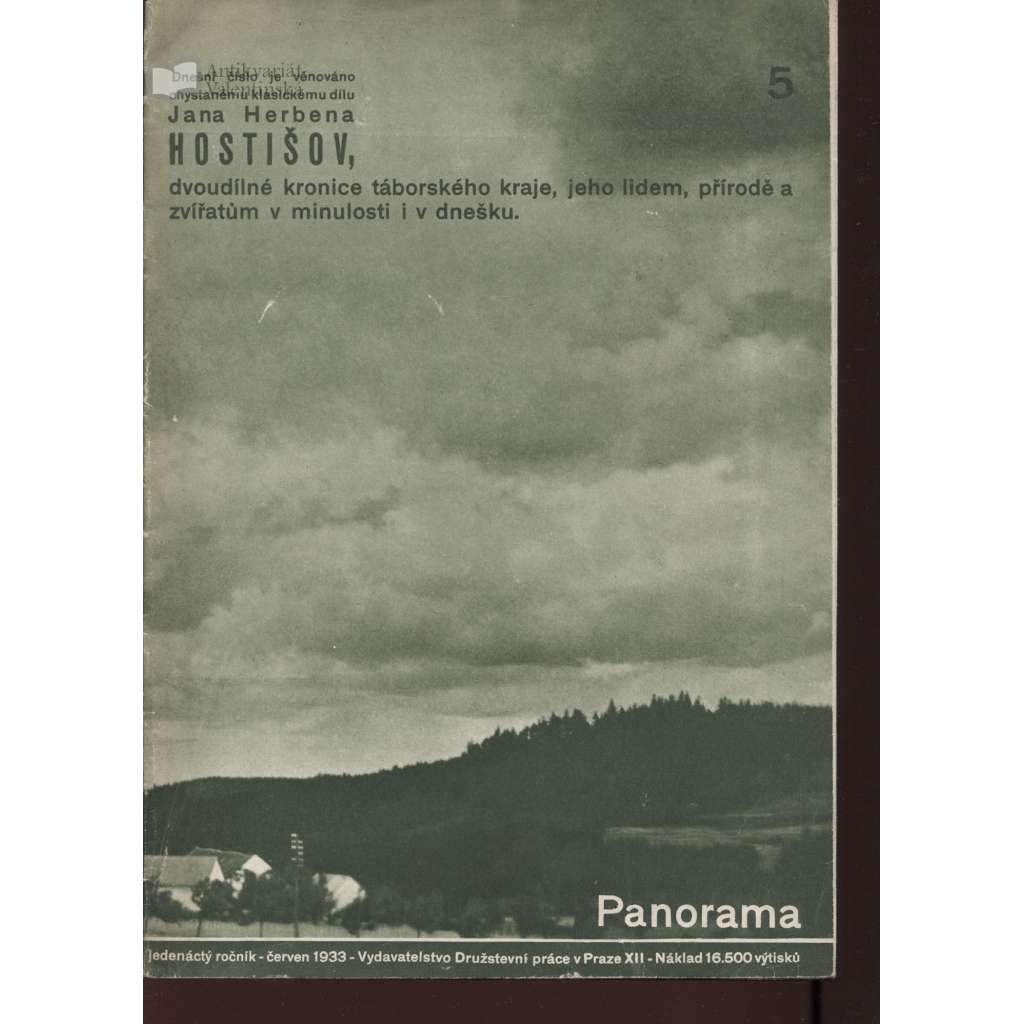 Panorama 5/1933 (Zpravodaj Družstevní práce)
