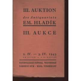 III. knižní aukce - Emanuel Hladík