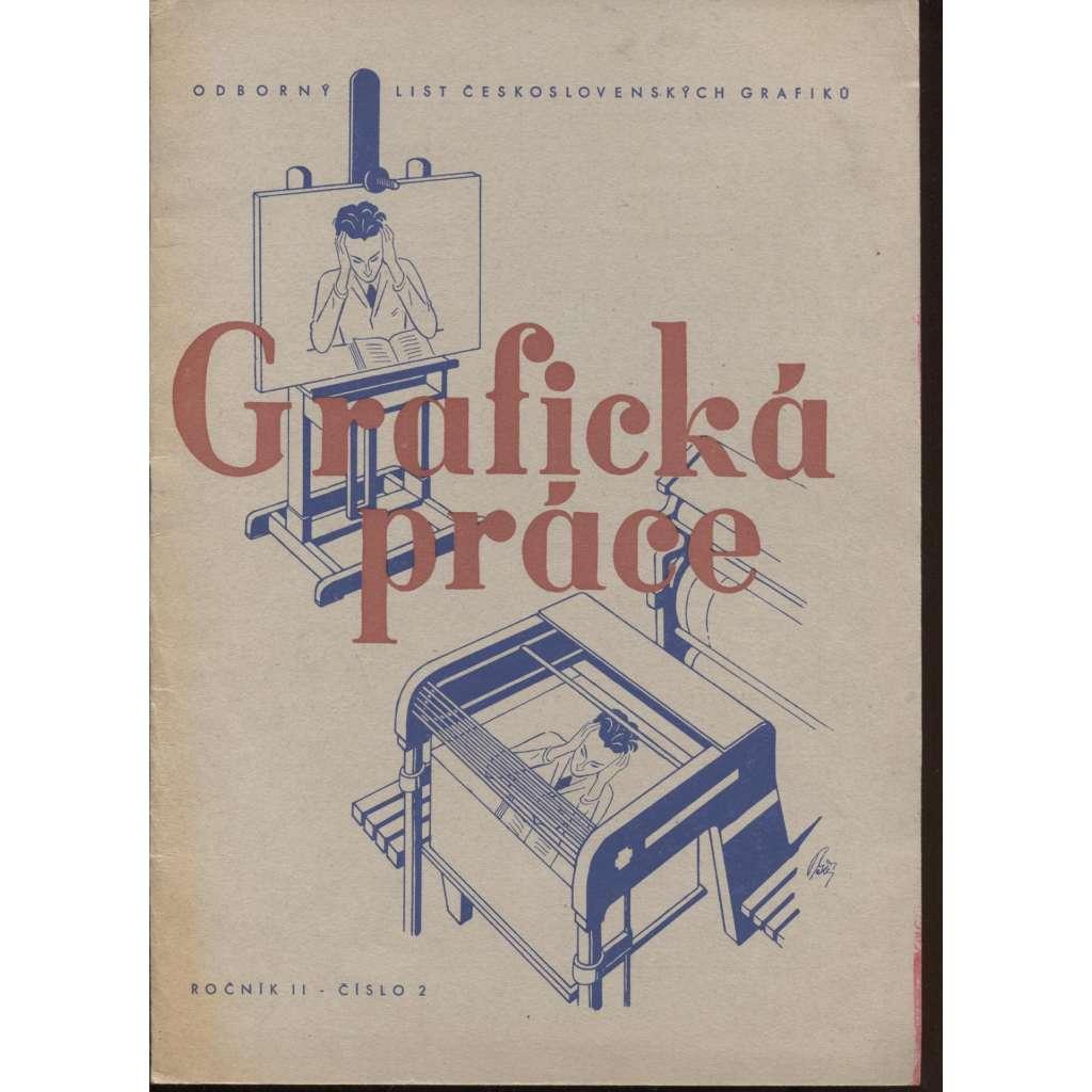 Grafická práce, ročník II., číslo 2 (Odborný list československých grafiků)