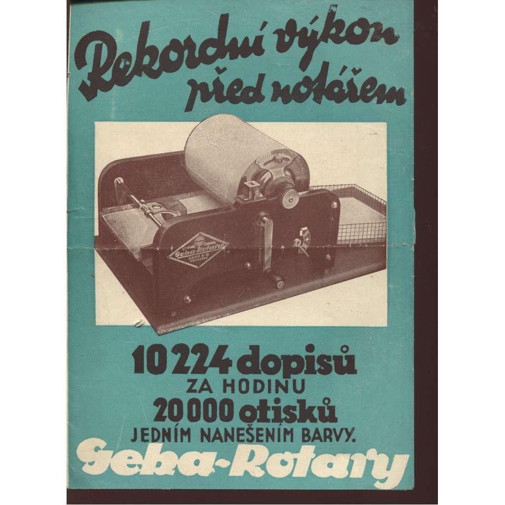 Geha-Rotary (reklamní leták na kopírovací či tiskařské stroje)