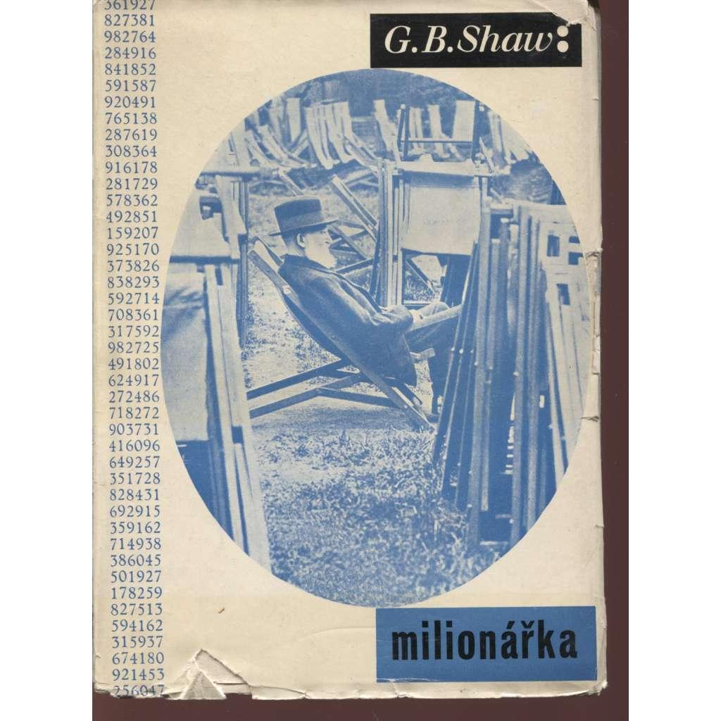 Milionářka (obálka Ladislav Sutnar)