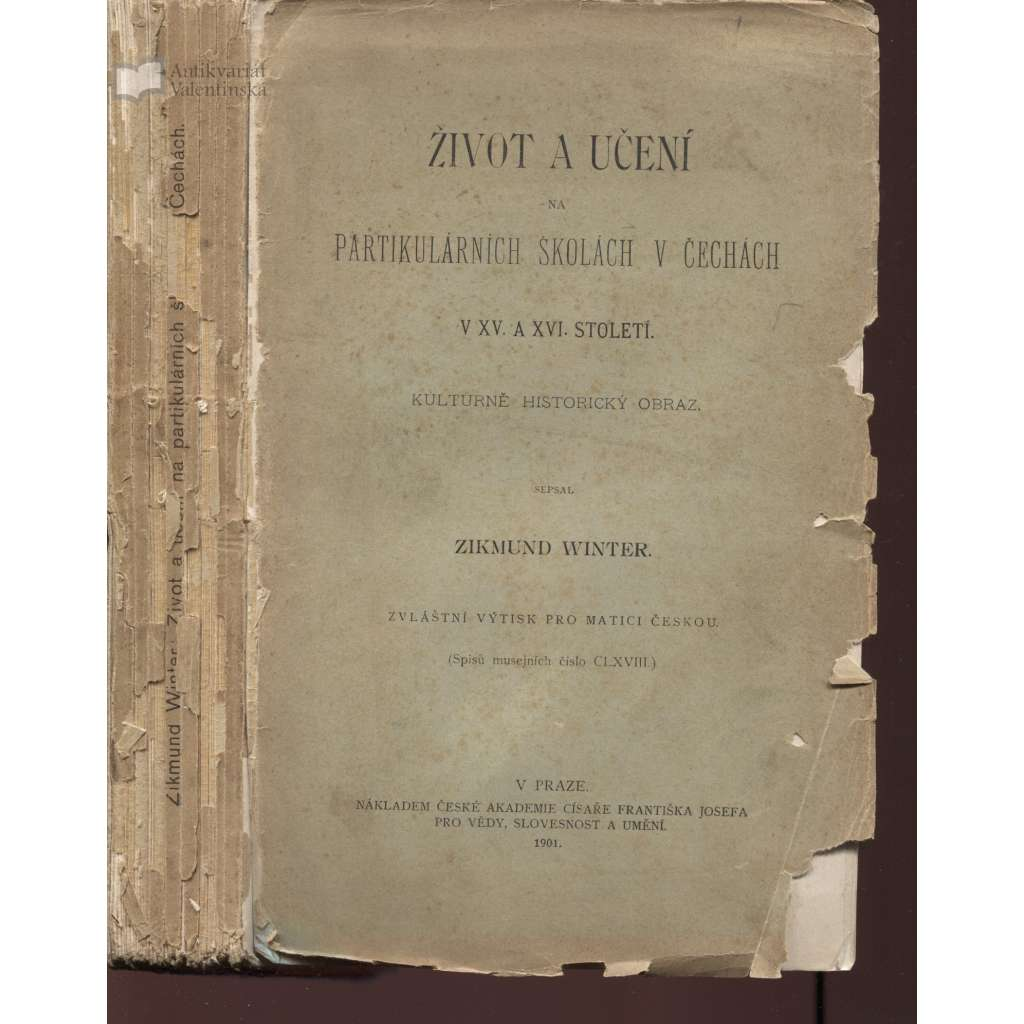 Život a učení na partikulárních školách v Čechách v XV. a XVI. století