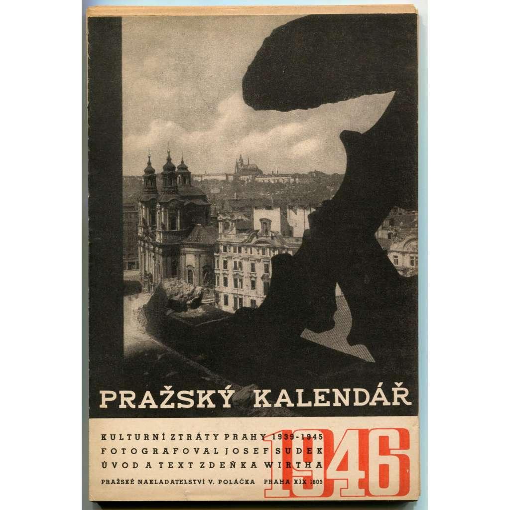 Pražský kalendář 1946. Kulturní ztráty Prahy 1939-1945