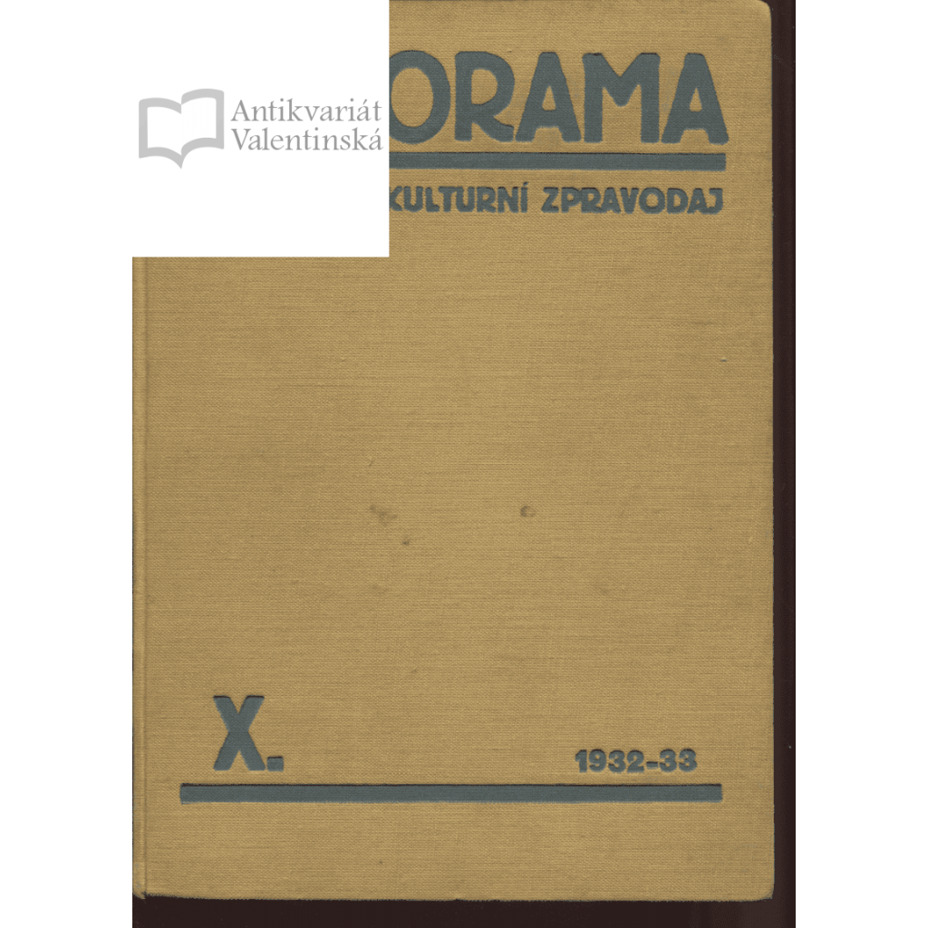 Panorama. Kulturní zpravodaj, roč. X., 1932-1933