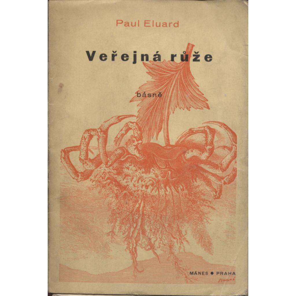 Veřejná růže - obálka a koláže J. Štyrský - (Mánes 1936)