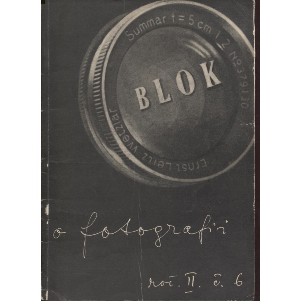 Blok - časopis pro umění, roč. II., číslo 6/1948. O fotografii
