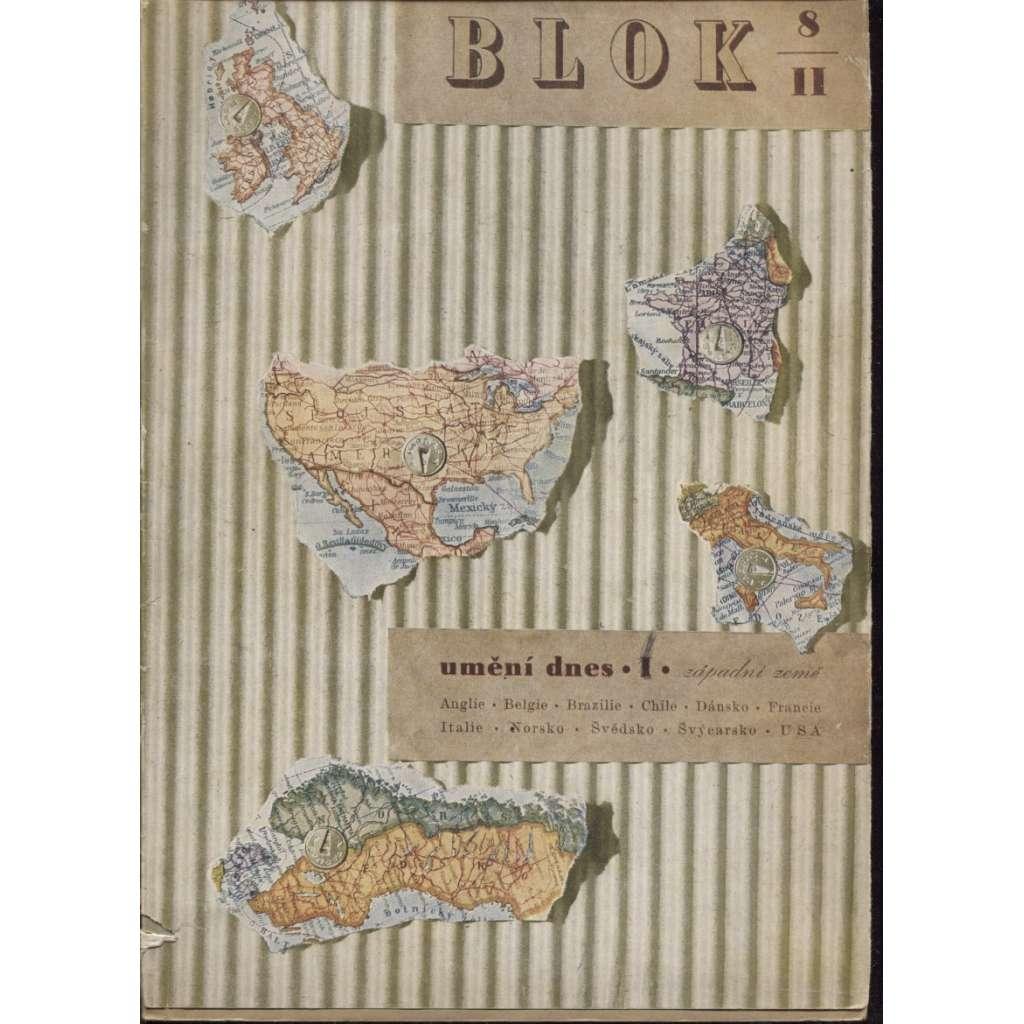Blok - časopis pro umění, roč. II., číslo 8/1948. Umění dnes I. Západní země