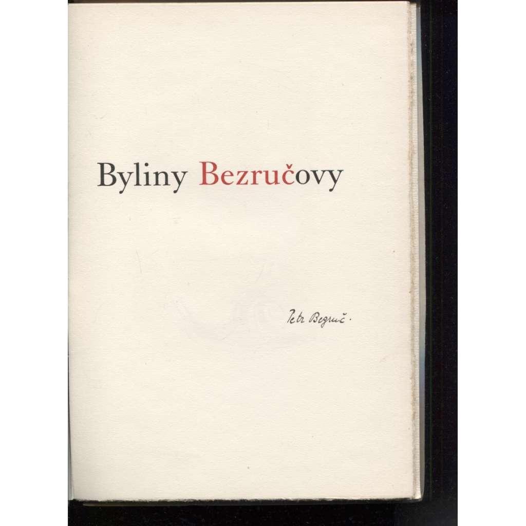 Byliny Bezručovy (podpis Petr Bezruč + ilustrace Karel Svolinský)