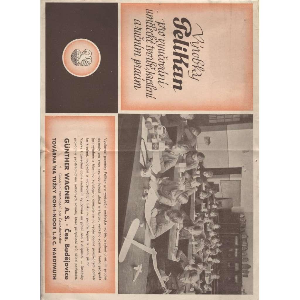 Výrobky Pelikan pro vyučování umělecké tvorbě, kreslení a ručním pracím (katalog zboží a ceník) - Wagner- Hardtmuth České Budějovice