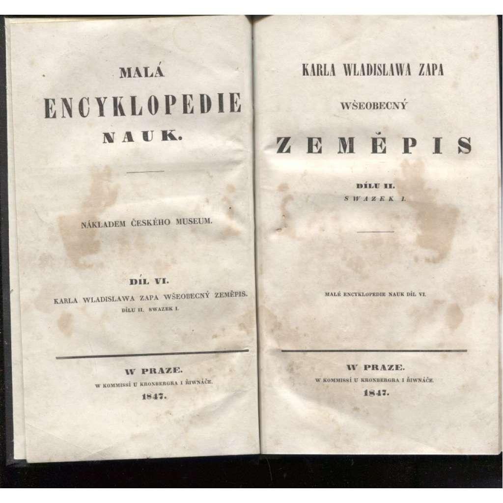 Všeobecný zeměpis, dílu II, sv. I. (Wšeobecný zeměpis)