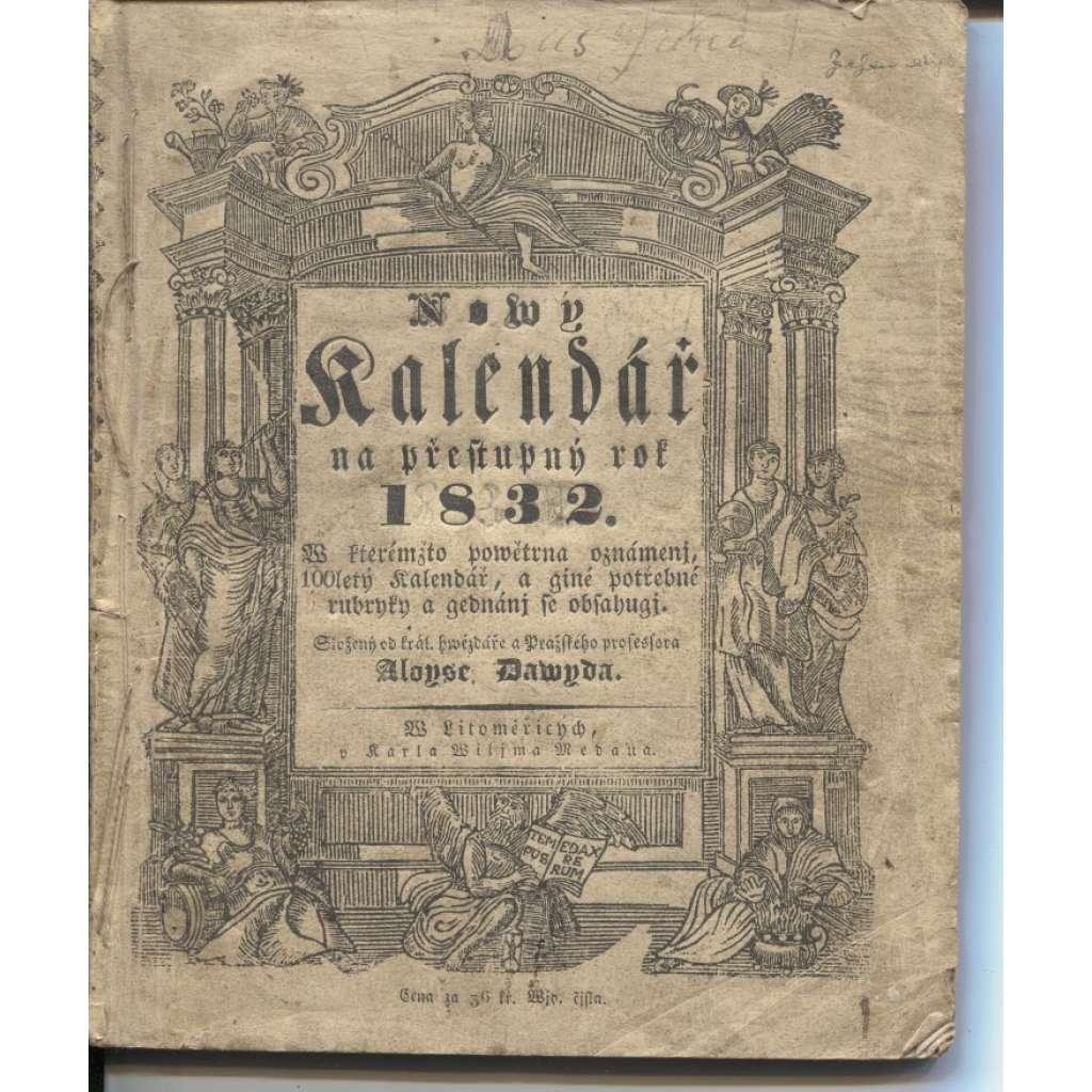 Nový kalendář na přestupný rok 1832