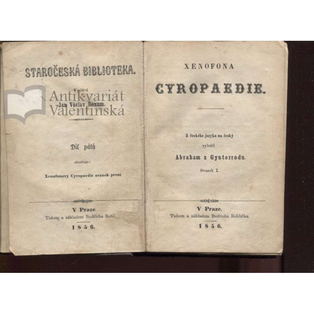 Xenofona Cyropaedie (1856)