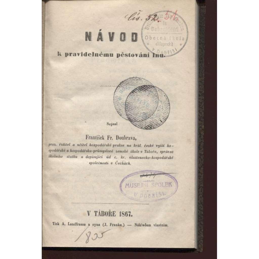 Návod k pravidelnému pěstování lnu (1867) - len