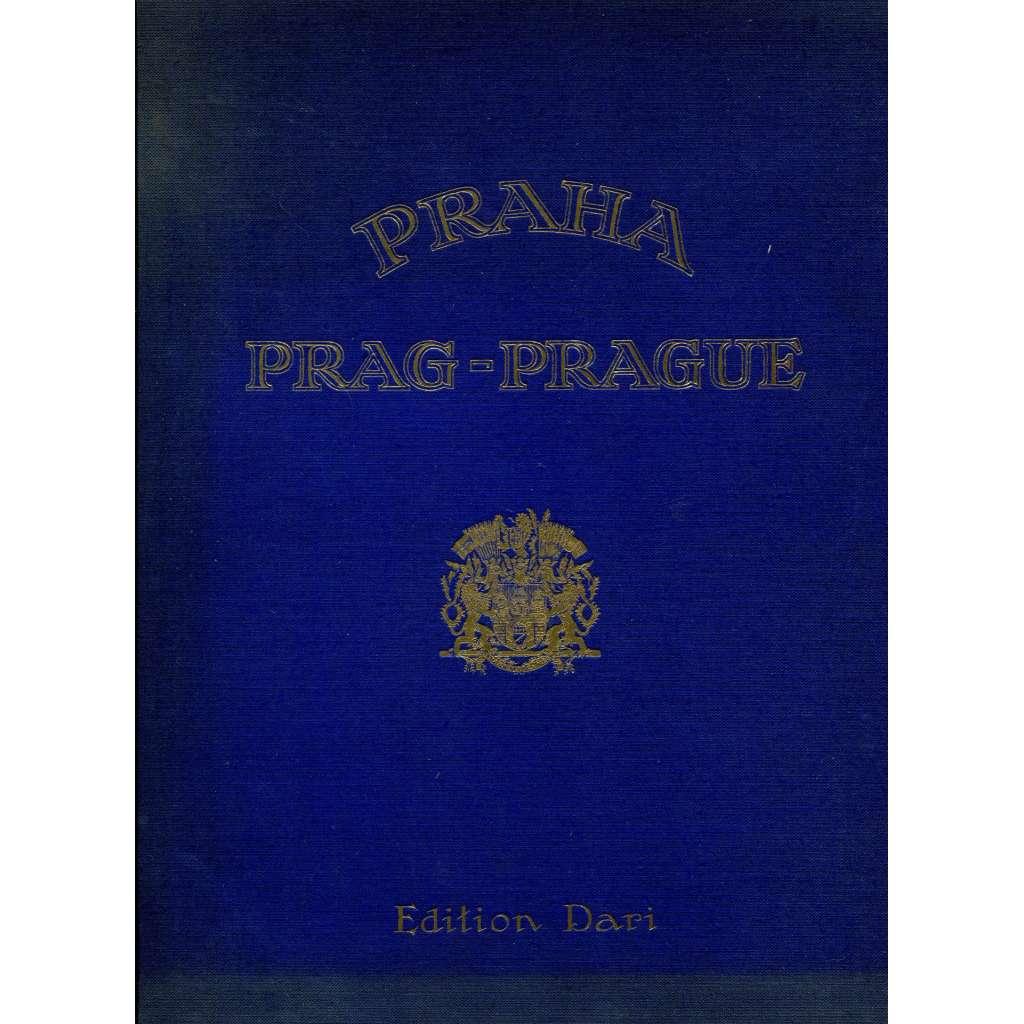 Československá republika. Praha = Die Tschechoslowakische Republik. Prag = La République Tchécoslovaque. Prague