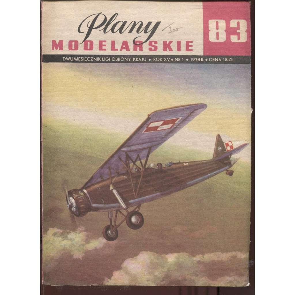 Plany modelarskie, ročník XV., číslo 83/1978 (Modelářské plány)