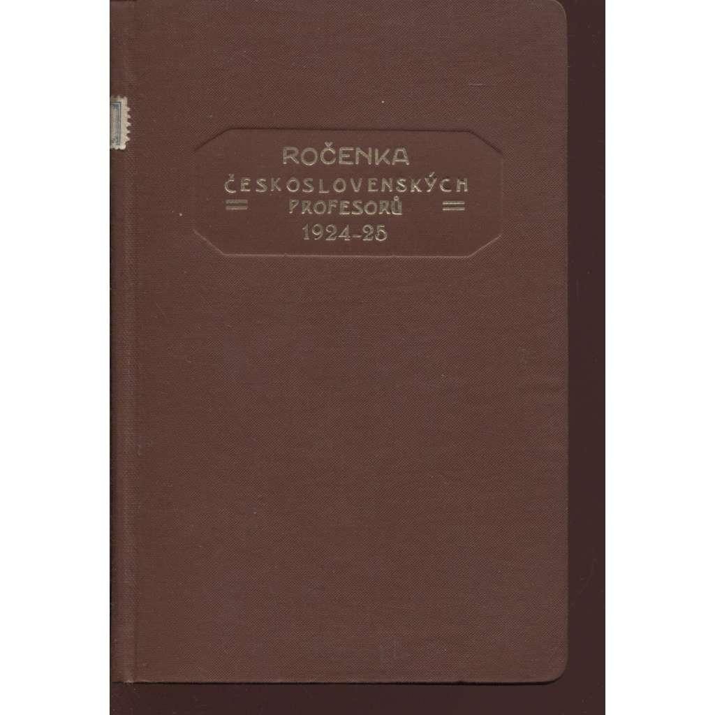Ročenka československých prefesorů, školní rok 1924-25