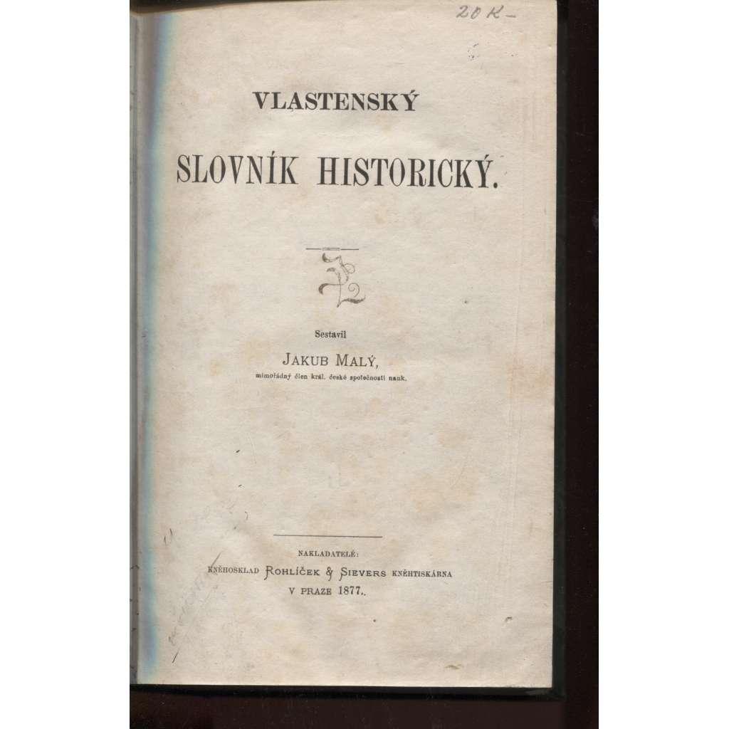 Vlastenecký slovník historický (1877)
