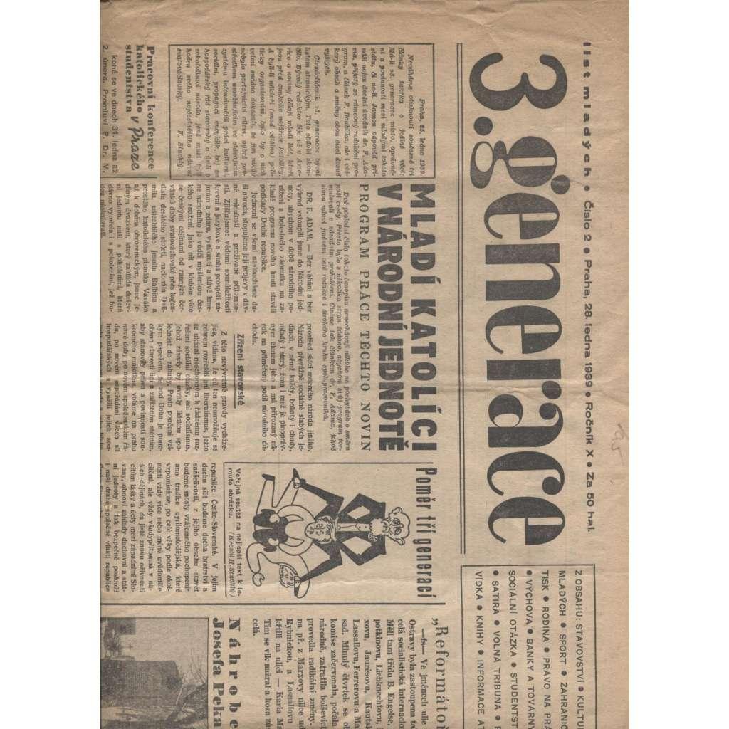 3. generace. List mladých, ročník X., číslo 2/1939