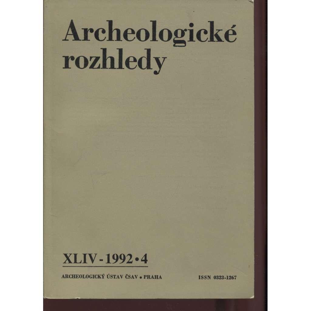 Archeologické rozhledy XLIV - 1992, č. 4.