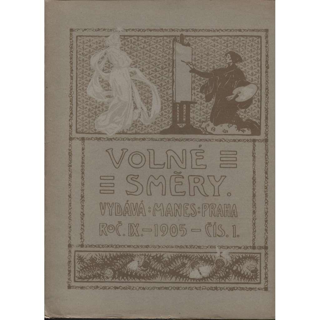 Časopis Volné směry, ročník IX., číslo 1/1905