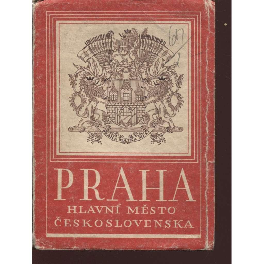 Praha, hlavní město Republiky československé (leporelo snímků)