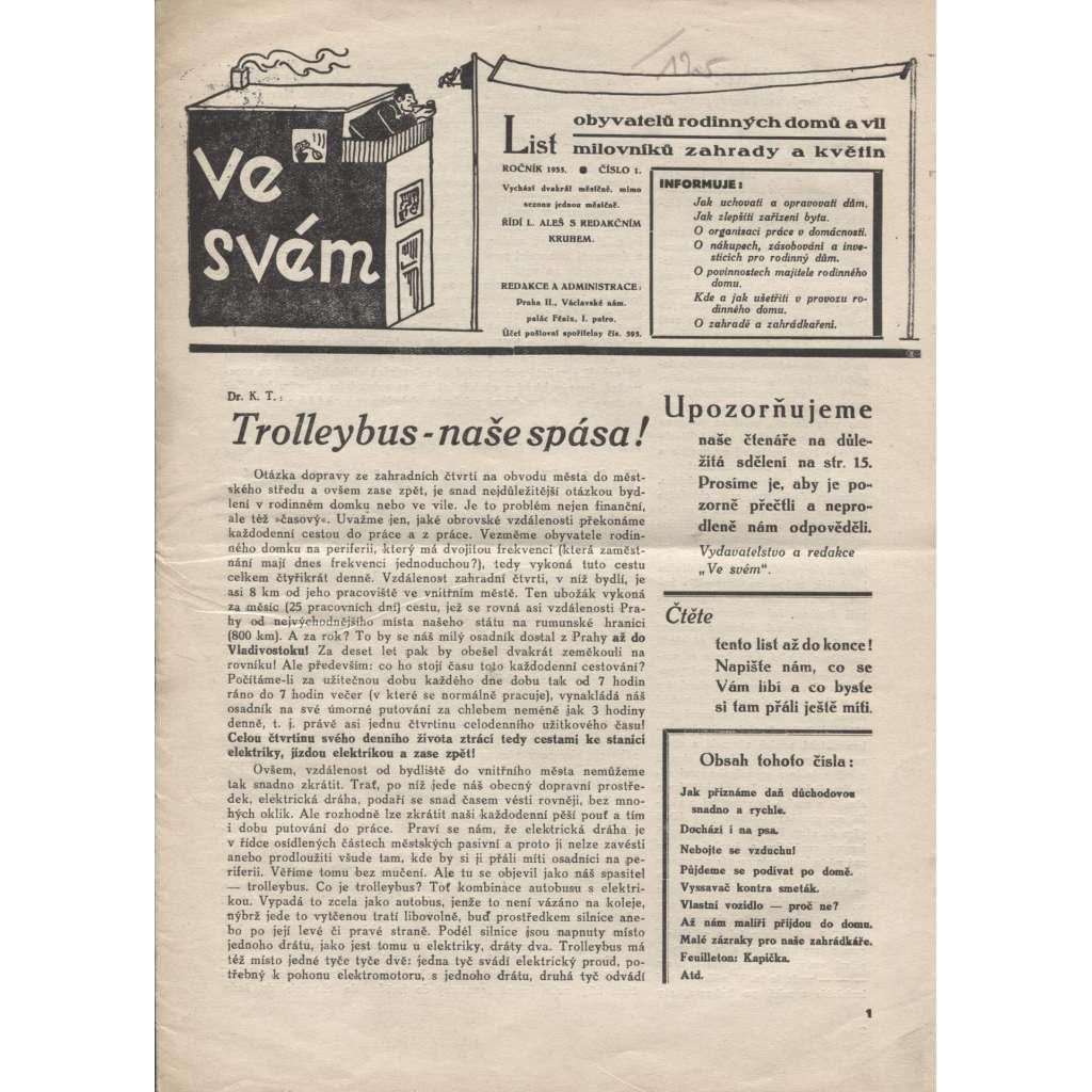 Ve svém, ročník XI., číslo 1/1935 (noviny 1. republika)