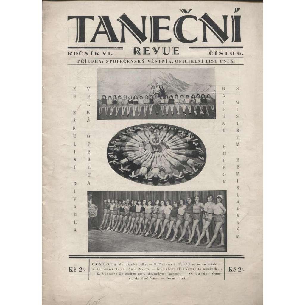 Taneční revue, ročník VI., číslo 6/1930