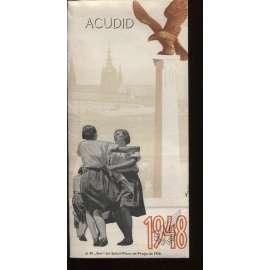 Acudid - Přijďte. Al XI Slet del Sokol-Pleno de Praga de 1948 (leták, Všesokolský slet - Praha 1948)