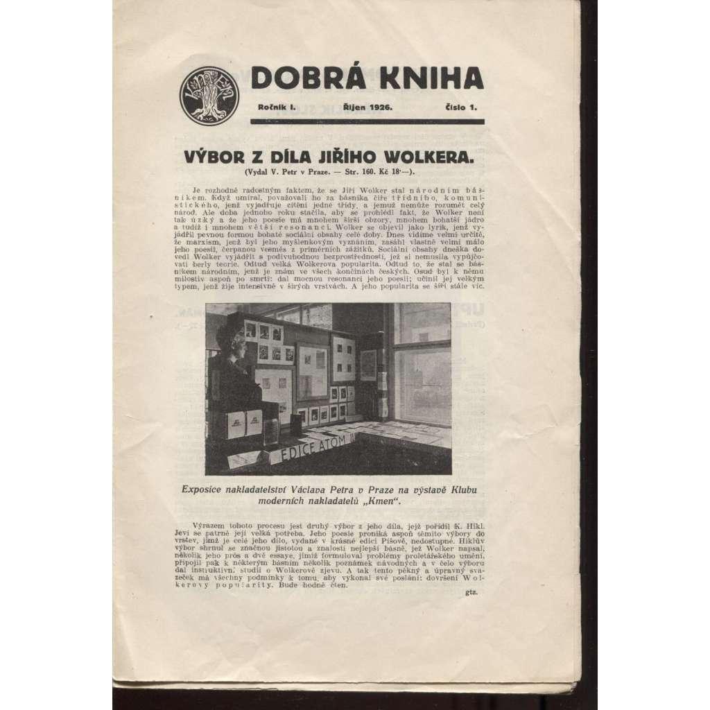 Dobrá kniha, ročník I., číslo 1.-10./1926-1927 (komplet)