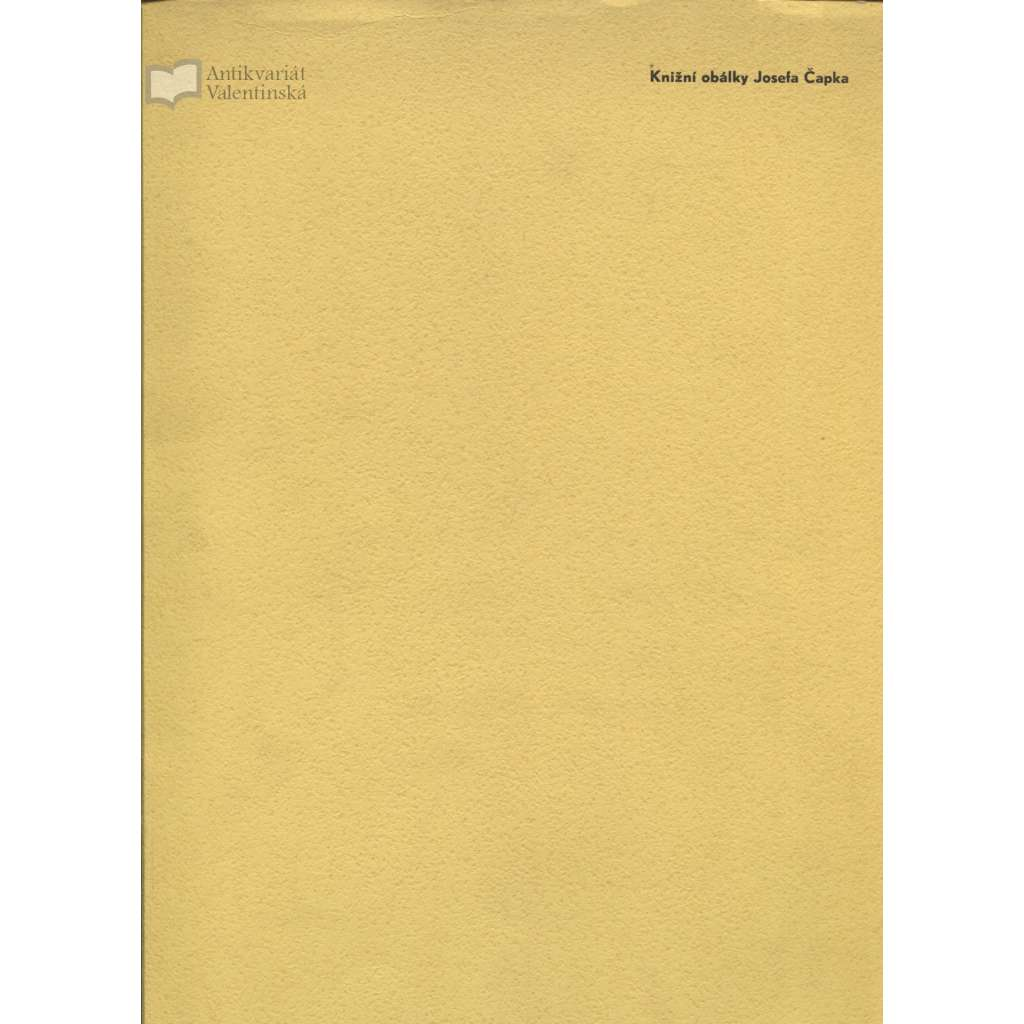 Knižní obálky Josefa Čapka (1934) - KRÁSNÝ STAV