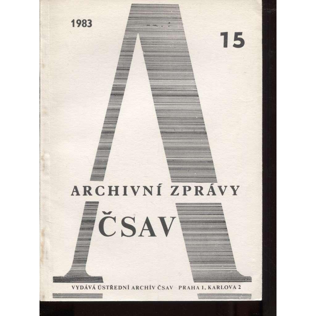 Archivní zprávy ČSAV, 15/1983