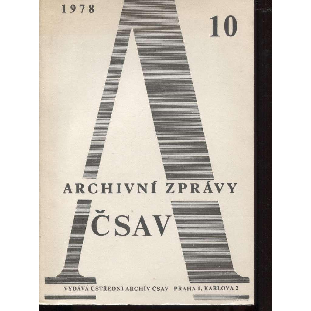 Archivní zprávy ČSAV, 10/1978