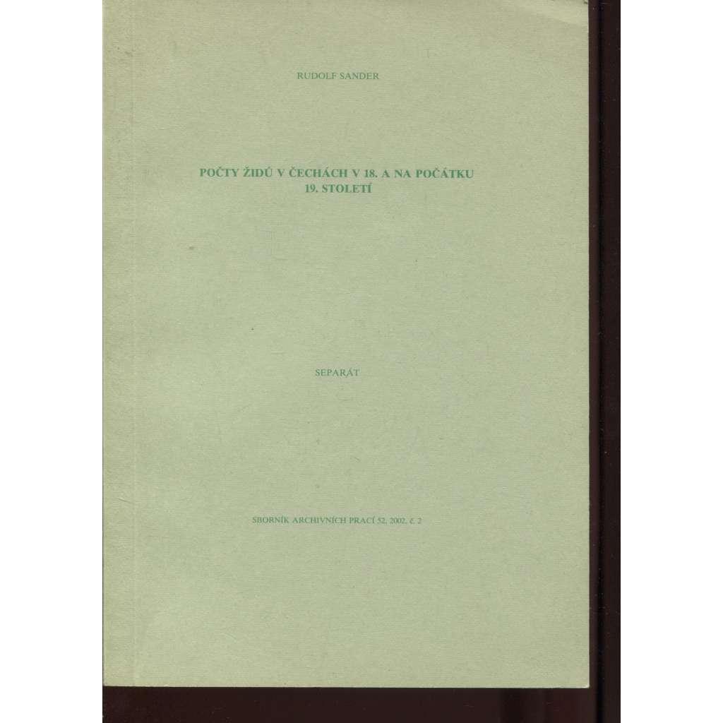 Počty Židů v Čechách v 18. a na počátku 19. století (Židé)