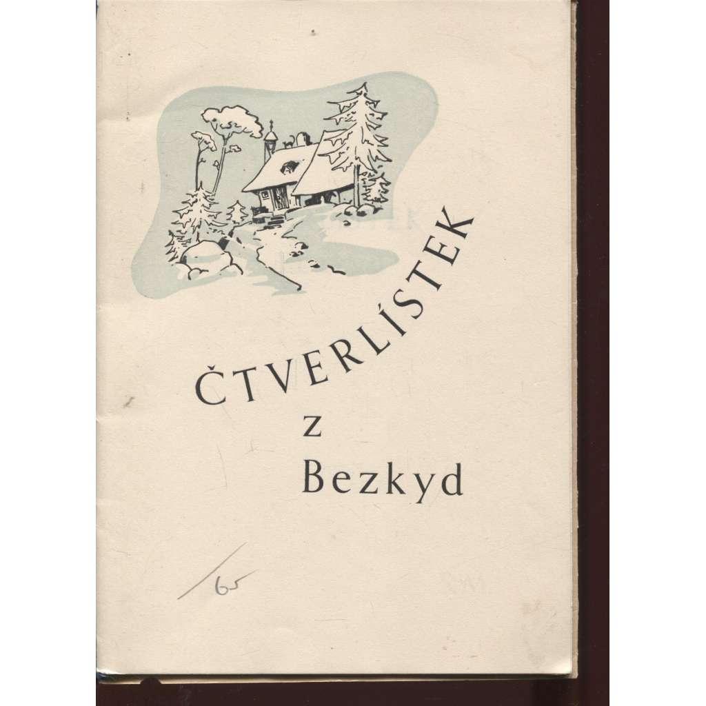 Čtverlístek z Beskyd (poezie, podpis Stáňa Mikulcová)