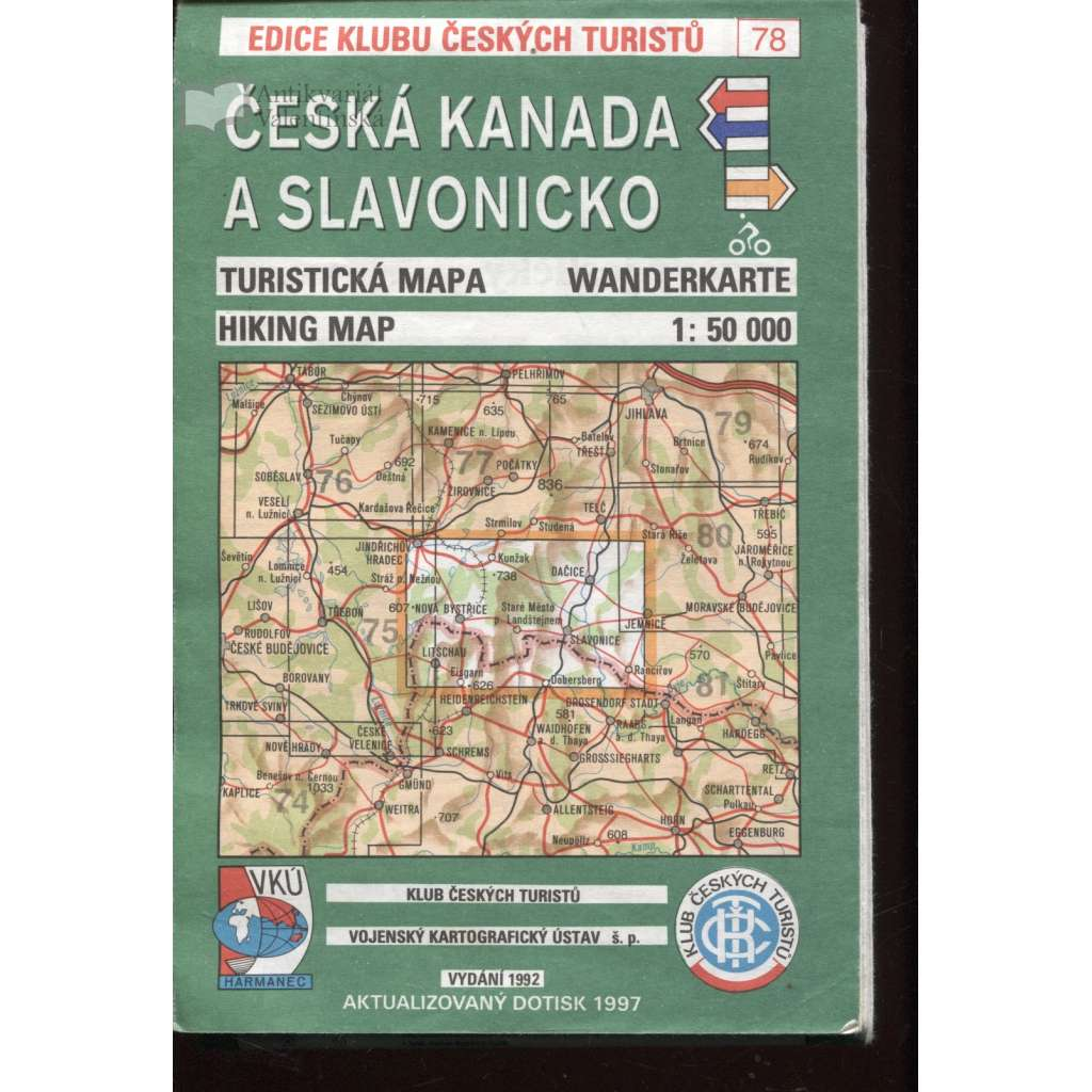 Česká Kanada a Slavonicko (turistická mapa)