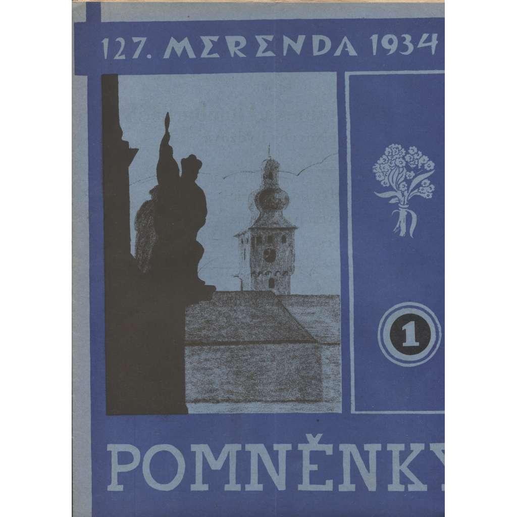 Pomněnky 1.-6./1934 (Nový Bydžov)
