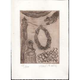 V cirkuse (suchá jehla, 1997, Karel Chaba)