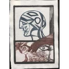 Hlavy (suchá jehla, 1988, Josef Liesler)