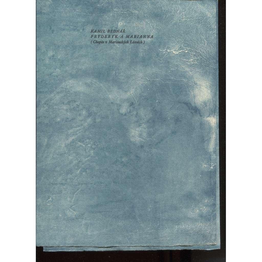 Fryderyk a Marianna (Chopin v Mariánských Lázních) - Barevná litografie, Vladimír Suchánek