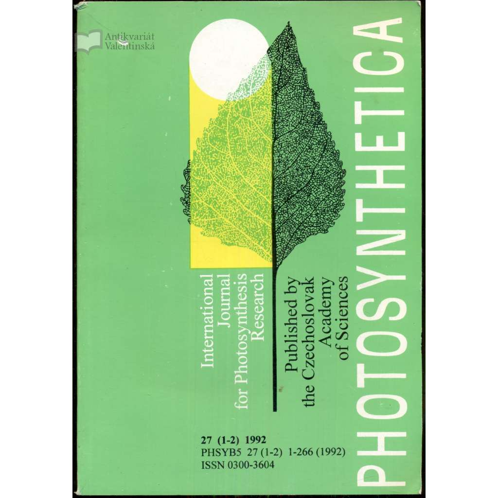 Photosynthetica: International journal for photosynthetic research 27/1-2 (1992)