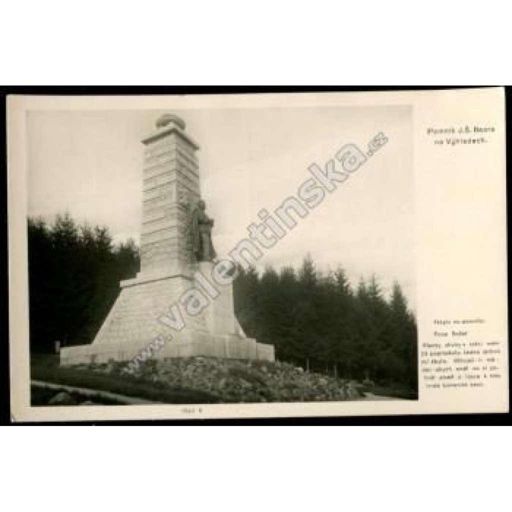 Výhledy, Domažlice, pomník Baar architektrura