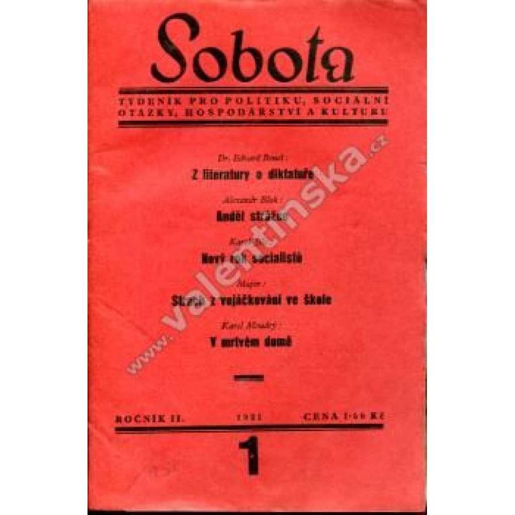 Týdeník Sobota, konvolut II. ročníku (1931)