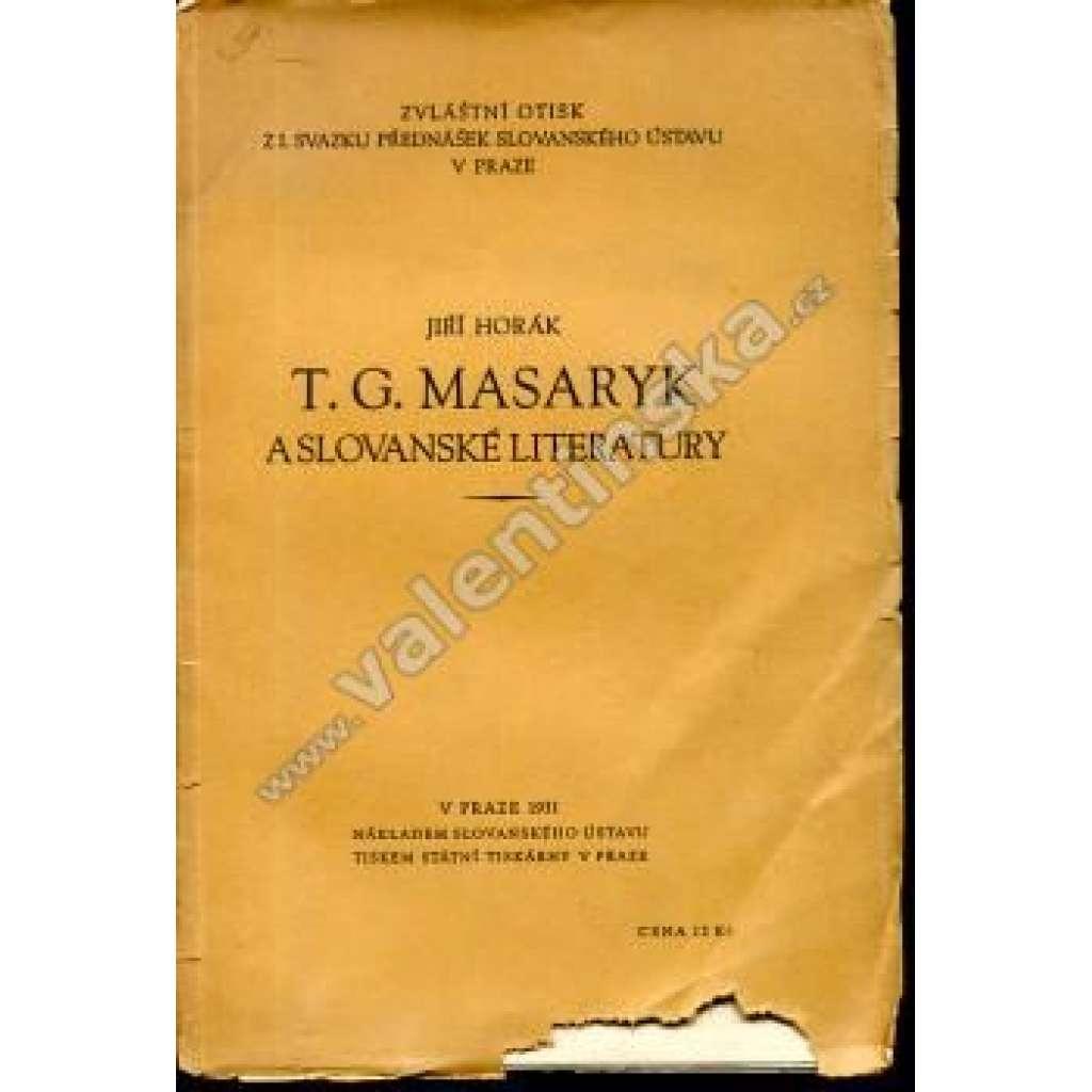 T. G. Masaryk a slovanské literatury
