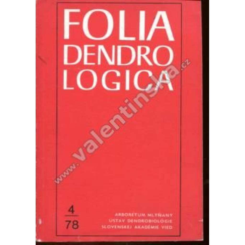 Folia Dendrologica, 4/78